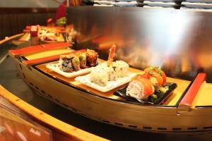 a float sushi