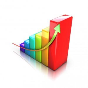 Colorful business 3D graph