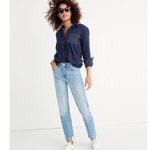 Latest obsession: straight leg jeans. But how to wear them?