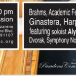The Pasadena Community Orchestra's new season opens with harp soloist Alyssa Katahara; more